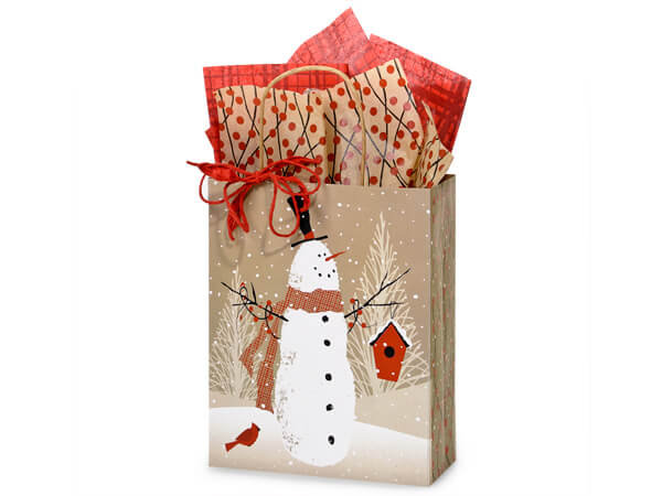 10 count Recycled Paper -  WOODLAND SNOWMAN - Made in the USA
