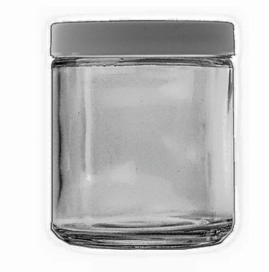 4 oz Clear Glass Multi Purpose Jar - Chose CLOSURE of your CHOICE