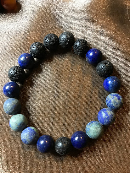 Lazuli Lapis &. Malachite Bracelet