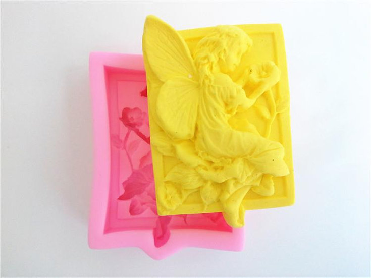 Fairy and Morning Glory Silicone Soap Mold