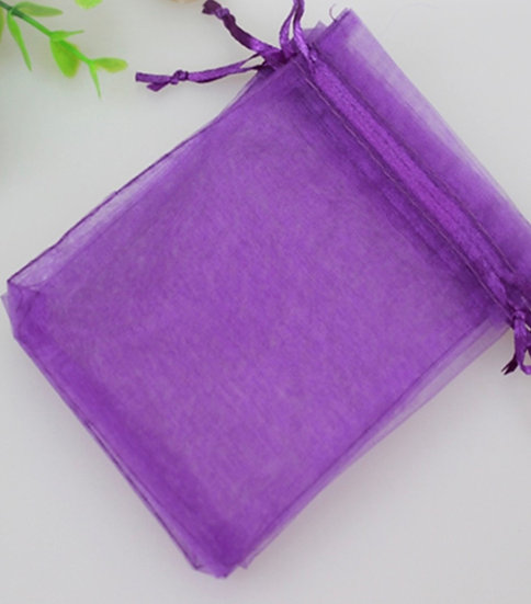100 ct DARK PURPLE Organza Bags  -- 8 x 11