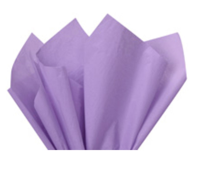 "25 count Recycled Tissue Paper - USA made  - LAVENDER  ~ 15"" X 20"""