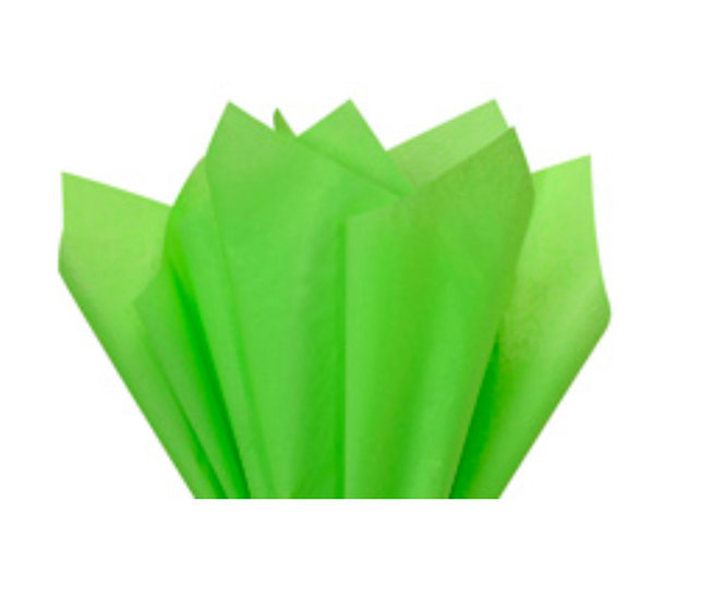 "25 count Recycled Tissue Paper - USA made  - LIME GREEN   ~ 15"" X 20"""