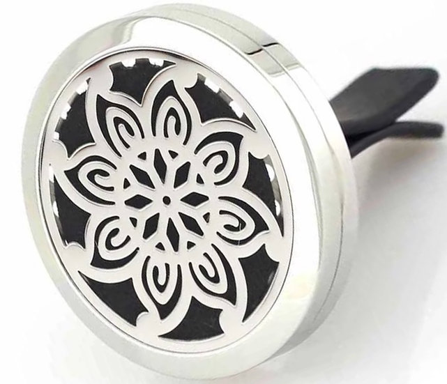LIFE FLOWER ~ Stainless Steel Car Vent Diffuser (35 mm)