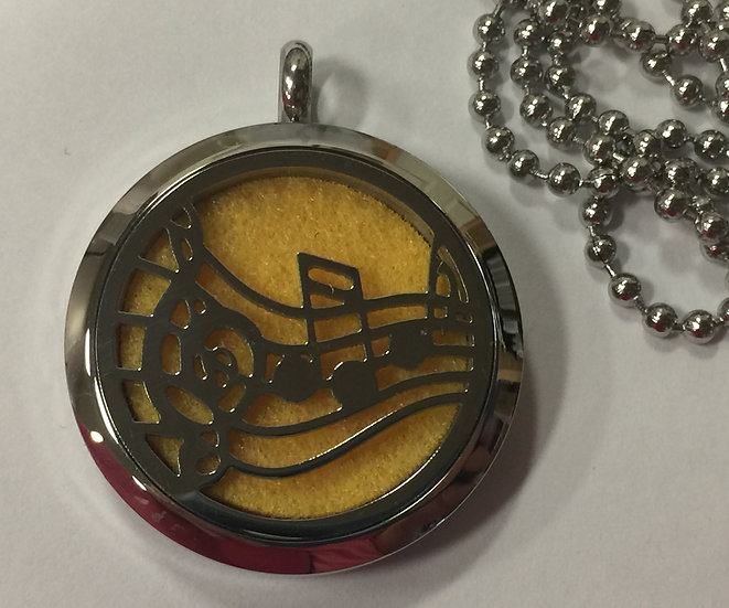 MUSIC Stainless Steel Diffiser Oil Locket - chain included