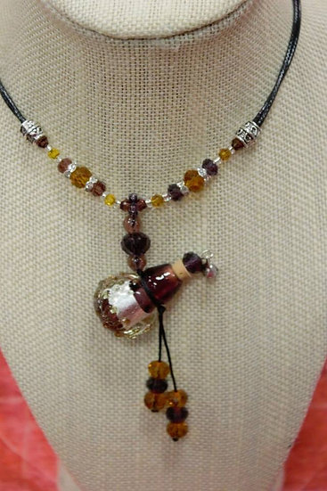 Purple Gourd Murano Glass Necklace