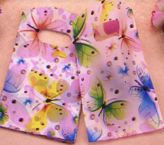 50 ct Mini BUTTERFLY Poly Bags  -- 3-1/2 X 5-1/2