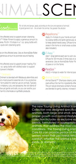 Pad of 50 ANIMAL SCENTS ~ ANIMALS 101 ~ Essential Oils ~  Tear Sheet