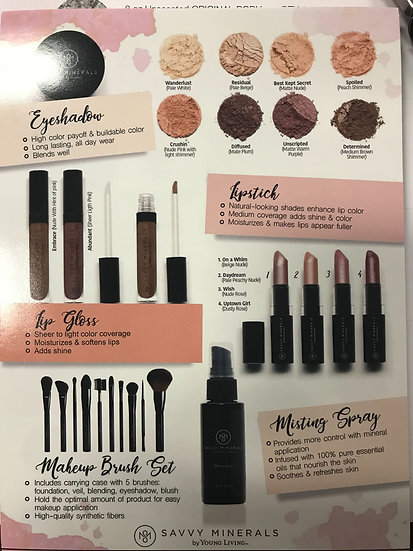 1 count ~ New ~ Young Living Savvy Minerals Flier -