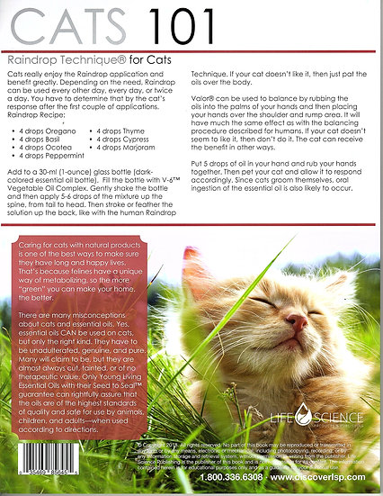 CATS 101  ~ Essential Oils ~  Tear Sheet