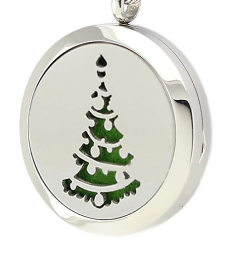 CHRISTMAS TREE 30mm Locket Diffuser - chain included