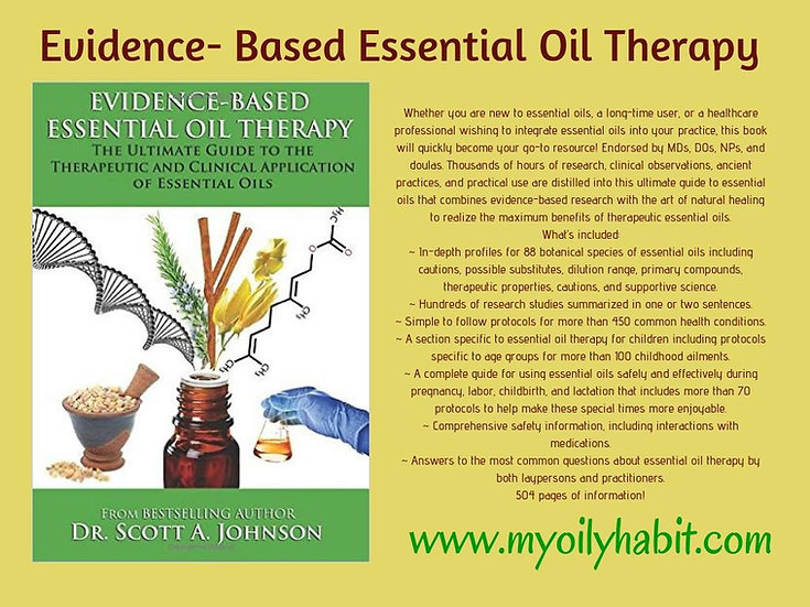 Evidence Based Essential Oil Therapy by Dr Scott Johnson