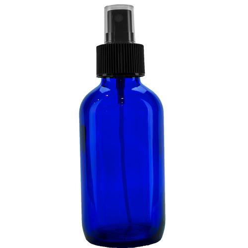 4 oz Cobalt Glass Bottle with CLOSURE of your CHOICE