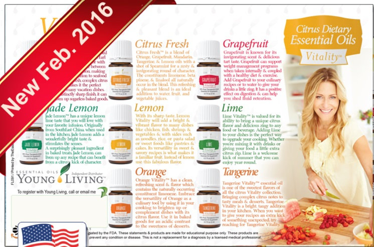 1 count Young Living VITALITY Oils Flier