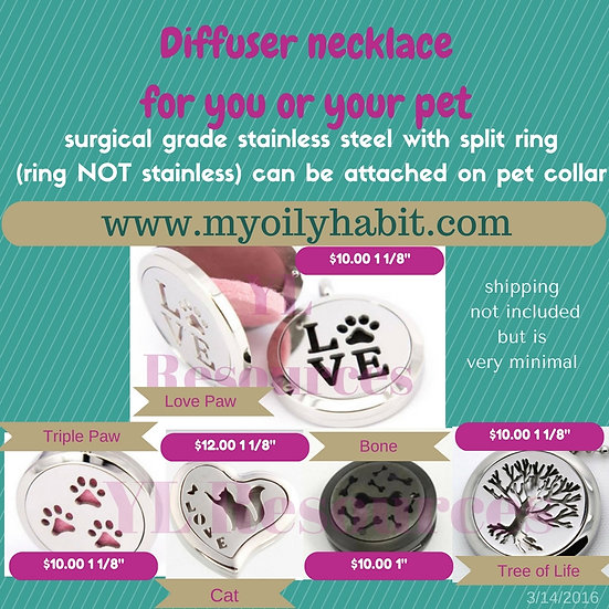 "Cat Heart  ""Necklace""  Diffuser"