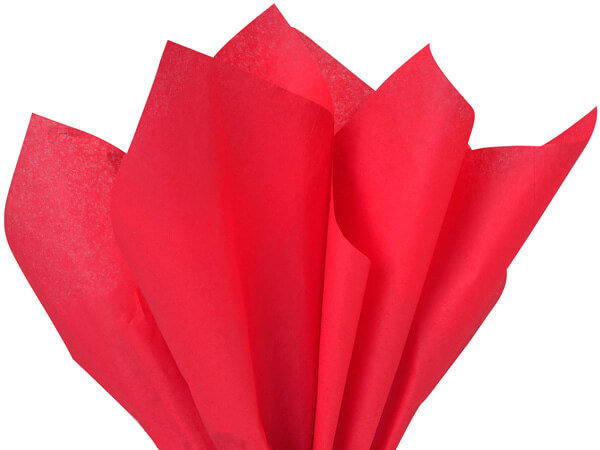 "25 count Recycled Tissue Paper - USA made  - RED    ~ 15"" X 20"""