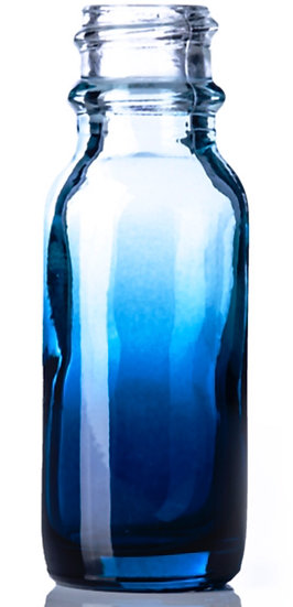 1 ounce Blue Fade Glass Bottle w/ Fine Mist Spray Top