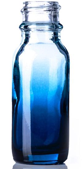 1 ounce Blue Fade Glass Bottle w/ Dropper Top