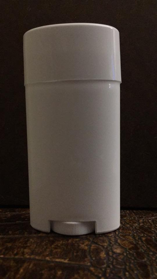 FULL SIZE ~ 2 5 oz OVAL Deodorant Tubes - WHITE