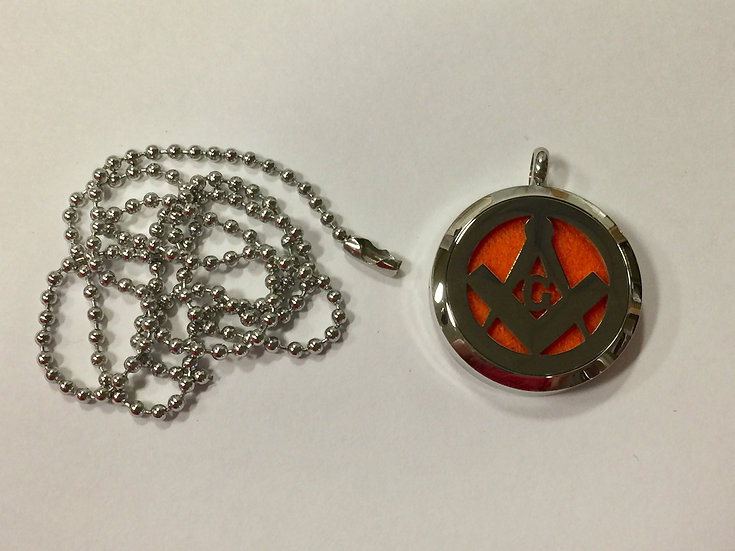 MASONIC  30mm Stainless Steel Locket Diffuser - chain included
