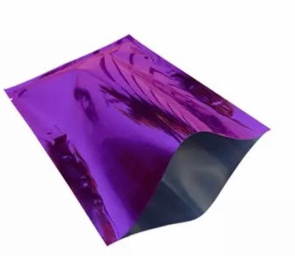"PURPLE 3"" x 5"" Foil (mylar) Heat Seal Pouch"