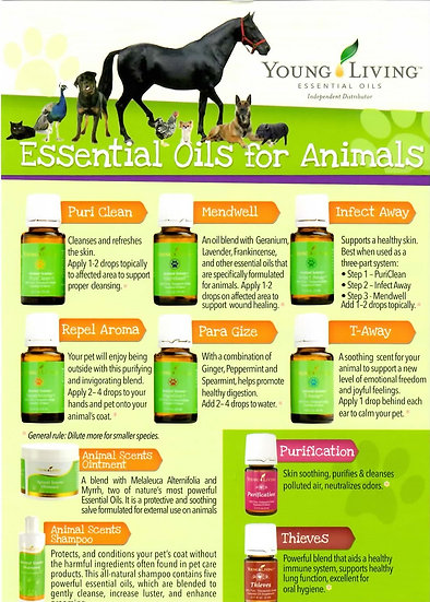 Young Living ESSENTiAL OILS FOR ANIMALS  Flier