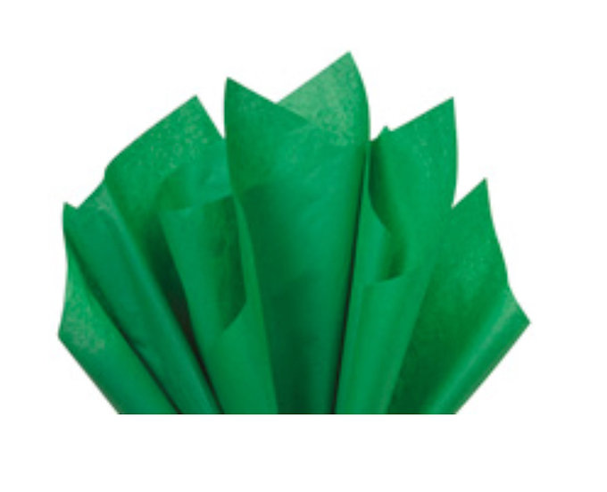 "25 count Recycled Tissue Paper - USA made  - GRASS GREEN   ~ 15"" X 20"""