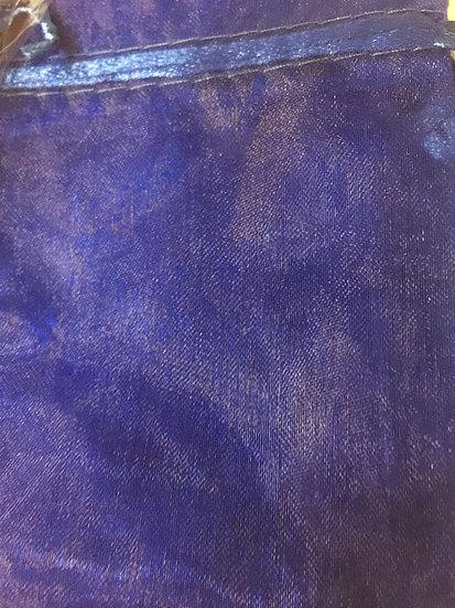 """100 ct Deep Blue Organza Bags  -- 3-1/2"""" X 4-1/2"""""""