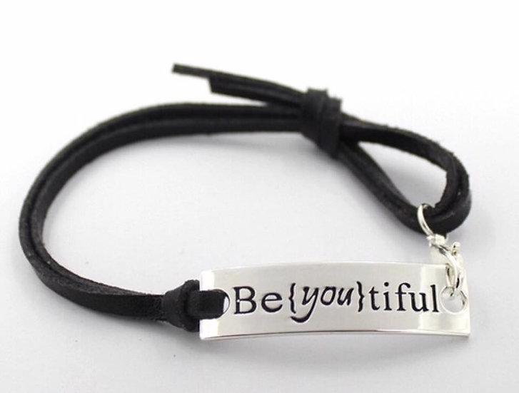 Be {you}tiful leather Bracelet