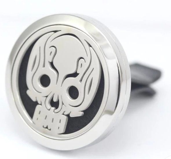 SKULL  ~  Stainless Steel Car Vent Diffuser (30 mm)