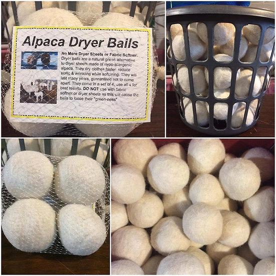 Set of 4 Alpaca Dryer Balls
