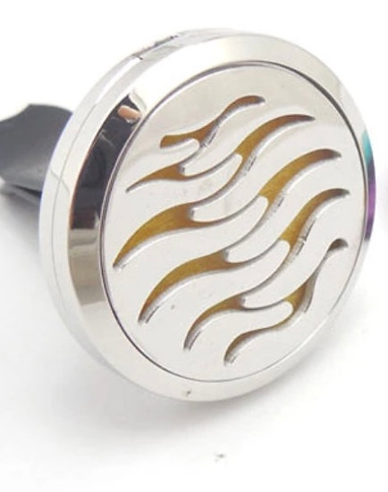 ART DECO TREE (ABSTRACT)  ~ Stainless Steel Car Vent Diffuser (30 mm)
