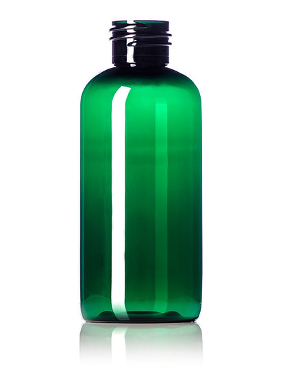 4 oz DARK GREEN PET Bottle Including CLOSURE of your CHOICE