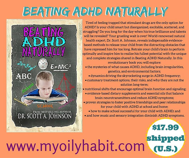 BEATING ADHD NATURALLY by Scott Johnson