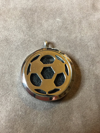 30 mm SOCCER PLAYER ~ MOM ~ Stainless Steel Diffuser Locket -