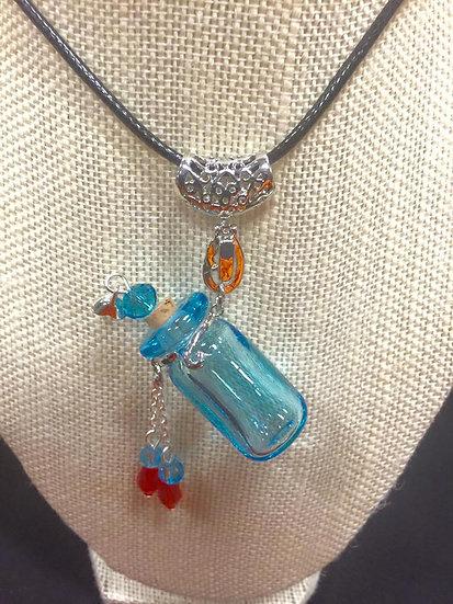 Aqua Baroque Bottle Diffuser Necklace