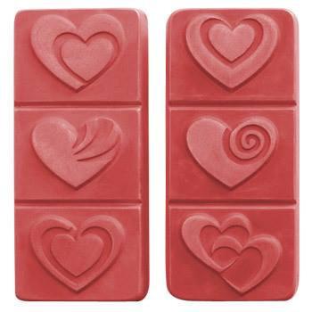 Break A Way Hearts Plastic Soap Mold
