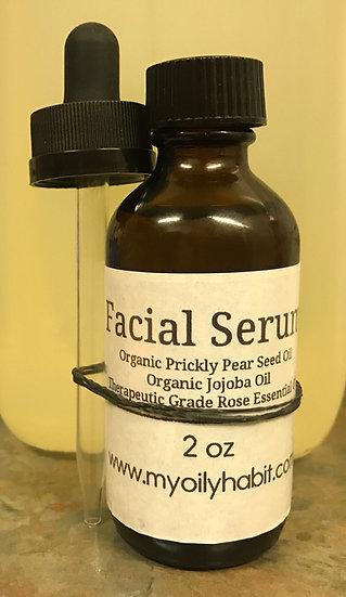 ROSE ~ Anti Aging Facial Serum ~ w/ Prickly Pear, Jojoba & Rose Essential Oil