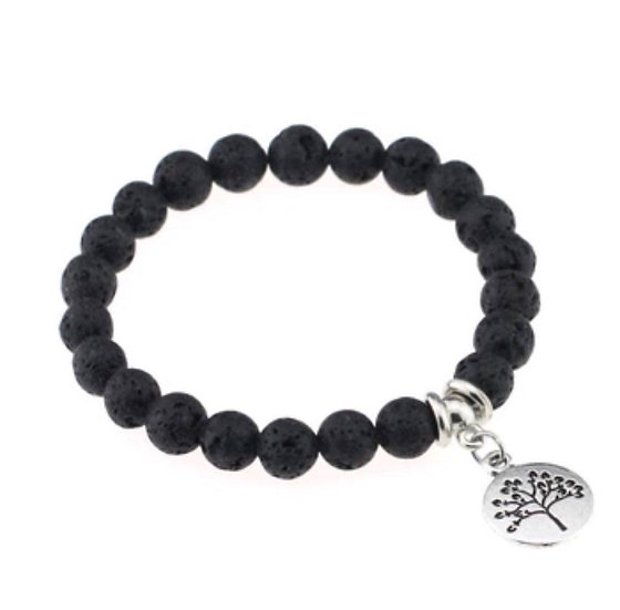 Lava Stone Diffuser Bracelet Tree of Life #1