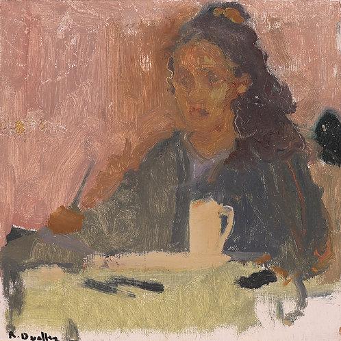 18. Self Portrait with Coffee Mug