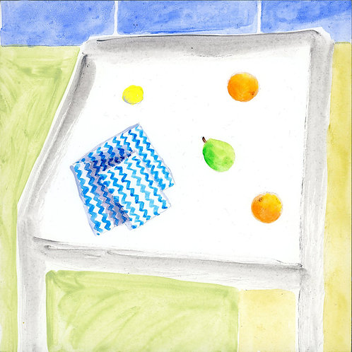Table (Series 7), 18 of 30: Linen Napkin and Fruit