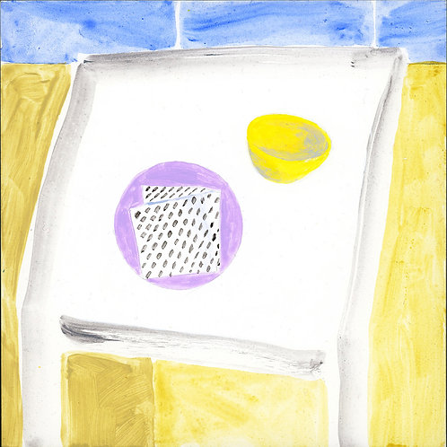 Table (Series 7), 10 of 30: Lavender Plate and Yellow Bowl