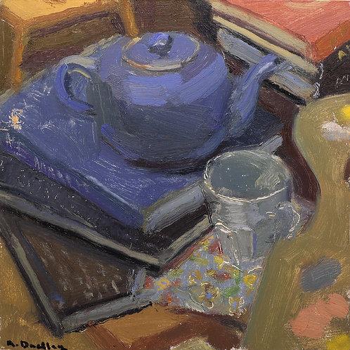 2. Tea, Books, and Paint