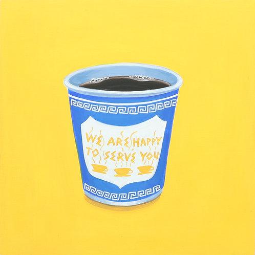 24. Greek Diner Coffee Cup