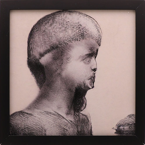 """16. """"The side profile of a human bust."""""""