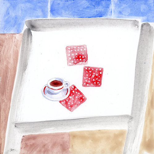 Table (Series 7), 20 of 30: Coffee and Polkadot Napkins