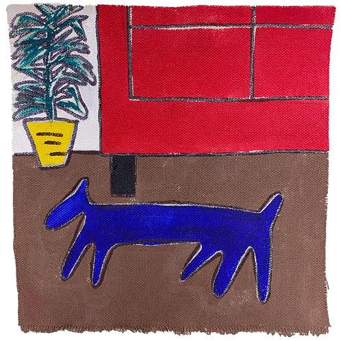 Blue Dog/Living Room