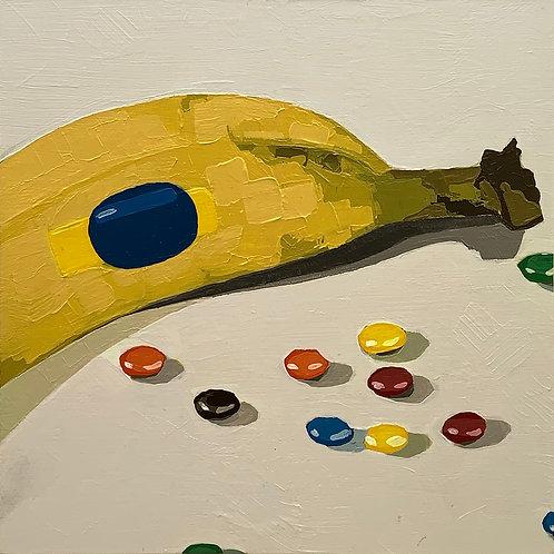 Banana and M&Ms