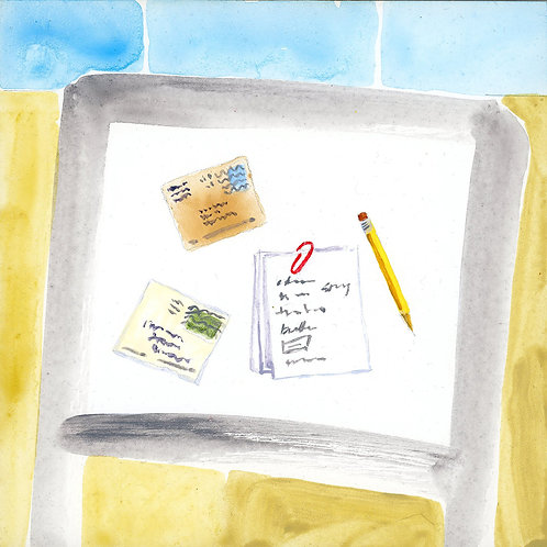 Table (Series 7), 3 of 30: Correspondence and Grocery List