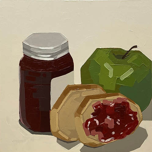Green Apple, Bread, and Jam